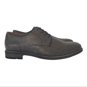New! Oxford Dress Shoes Faux Leather Lace Up Taupe